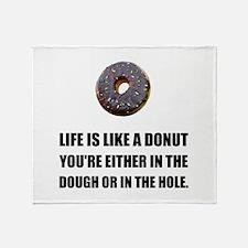 Life Like Donut Throw Blanket