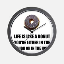 Life Like Donut Wall Clock