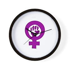 Wall Clock - Feminist fist