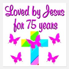 BLESSED 75TH Invitations