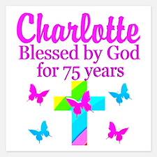 CHRISTIAN 75TH Invitations