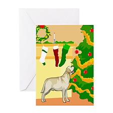 Happy Holidays Lab Greeting Card