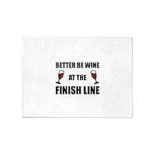 Wine At Finish Line 5'x7'Area Rug