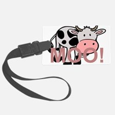 moo cow cartoon Luggage Tag