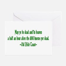 Irish Toast--Before Divil Kno Greeting Cards (Pack