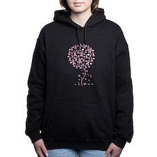 Unique Think pink Women's Hooded Sweatshirt
