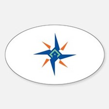 Cute Better off the grid Sticker (Oval)