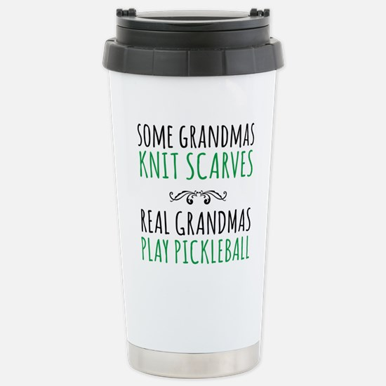Real Grandmas Play Pick Stainless Steel Travel Mug
