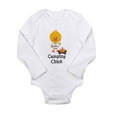 Cute Hiking Long Sleeve Infant Bodysuit
