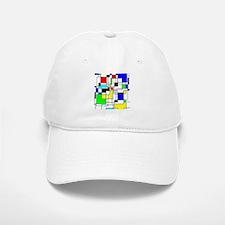 Random Squares Homage To Mondrian Baseball Baseball Cap