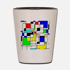 Random Squares Homage To Mondrian Shot Glass