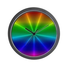 Gradient Rainbow Design Wall Clock