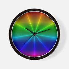 Gradient Rainbow Design Wall Clock