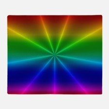 Gradient Rainbow Design Throw Blanket