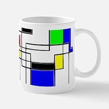 Random Squares Homage To Mondrian Mugs