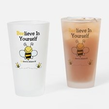 Beelieve In Yourself Drinking Glass