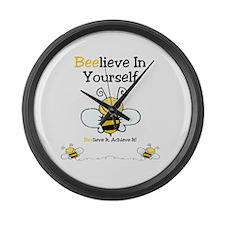 Beelieve In Yourself Large Wall Clock