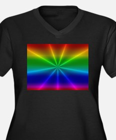 Gradient Rainbow Design Plus Size T-Shirt