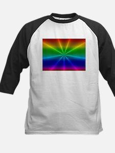 Gradient Rainbow Design Baseball Jersey
