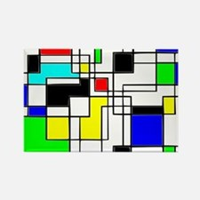 Random Squares Homage To Mondrian Magnets