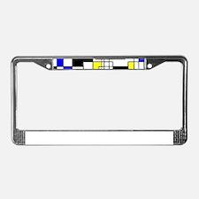 Random Squares Homage To Mondr License Plate Frame