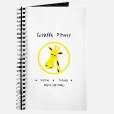Yellow Giraffe Animal Power Gifts Journal