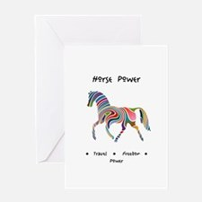 Rainbow Horse Animal Power Gifts Greeting Cards