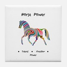 Rainbow Horse Animal Power Gifts Tile Coaster