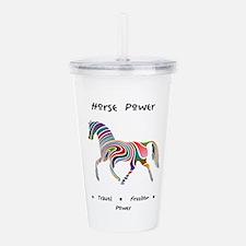 Rainbow Horse Animal Power Gifts Acrylic Double-wa