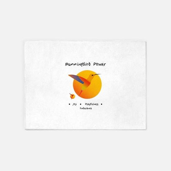 Hummingbird Animal Power Gifts 5'x7'Area Rug