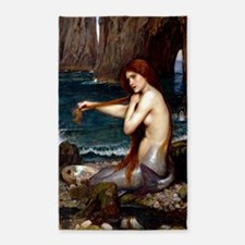 Red Haired Mermaid Area Rug