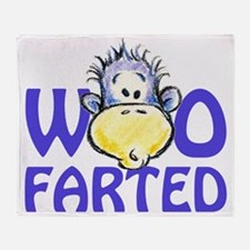 Who Really Farted? Throw Blanket