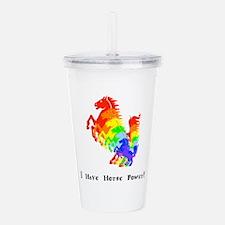 I Have Rainbow Horse Power Gifts Acrylic Double-wa