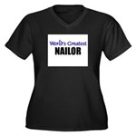Worlds Greatest NAILOR Women's Plus Size V-Neck Da