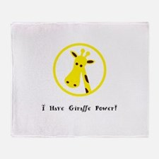 Yellow Giraffe Power Animal Gifts Throw Blanket
