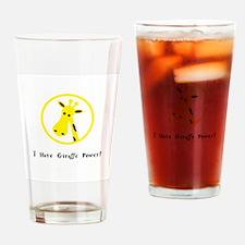 Yellow Giraffe Power Animal Gifts Drinking Glass