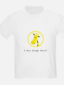 Yellow Giraffe Power Animal Gifts T-Shirt