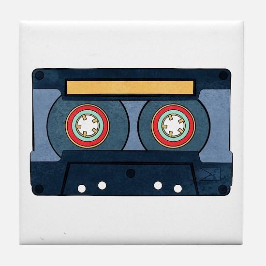 Blue Cassette Tile Coaster