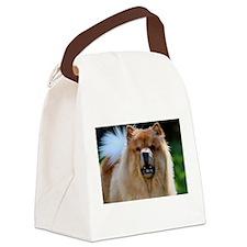 Cute Chow Canvas Lunch Bag