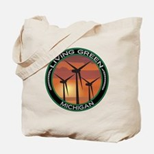 Living Green Michigan Wind Power Tote Bag