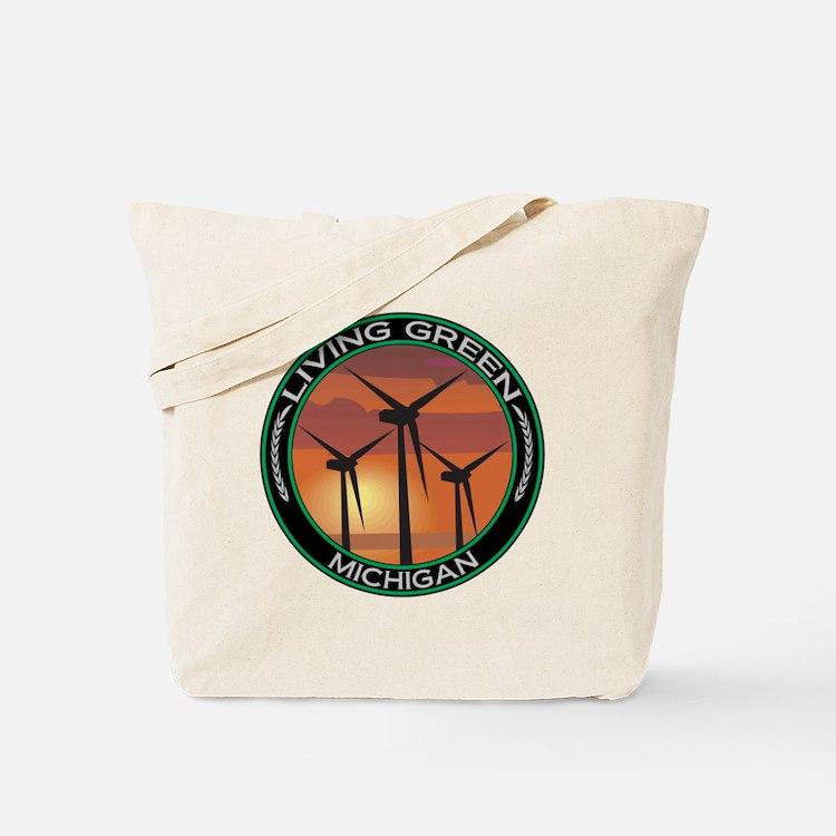 Living Green Michigan Wind Power Tote Bag