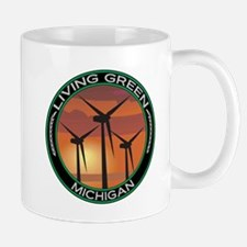 Living Green Michigan Wind Power Mug