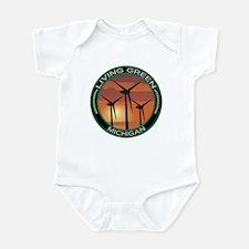 Living Green Michigan Wind Power Infant Bodysuit