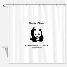 Panda Animal Power Gifts Shower Curtain