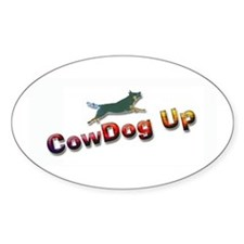 "AuCaDogs ""CowDog Up""TM Photo Art Oval Decal"