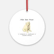 Polar Bear Animal Medicine Gifts Round Ornament