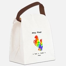 Rainbow Horse Sacred Totem Power Canvas Lunch Bag