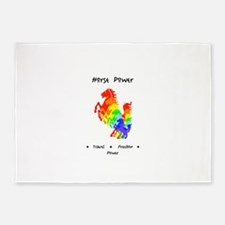 Rainbow Horse Sacred Totem Power 5'x7'Area Rug