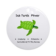 Sea Turtle Sacred Animal Totem Power Round Ornamen