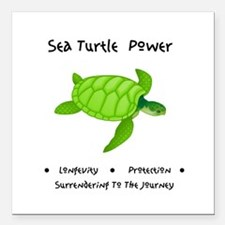 Sea Turtle Sacred Animal Totem Power Square Car Ma